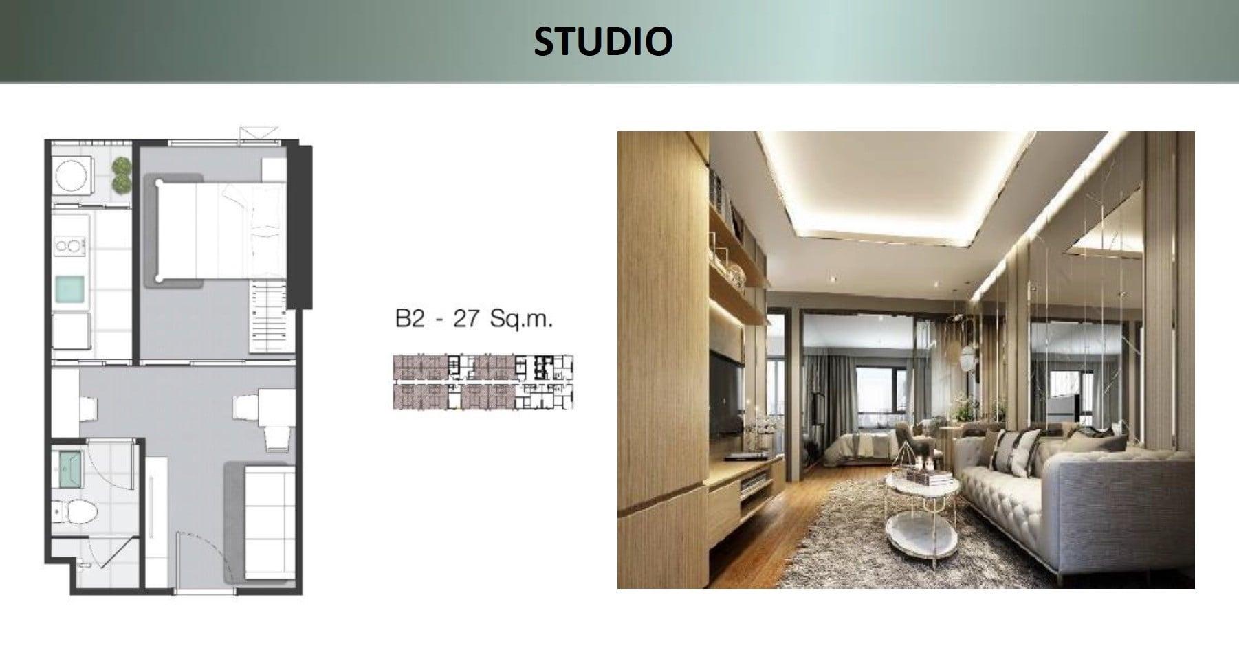 Knightsbridge-sukhumvit-thepharak-Floor plan Studio