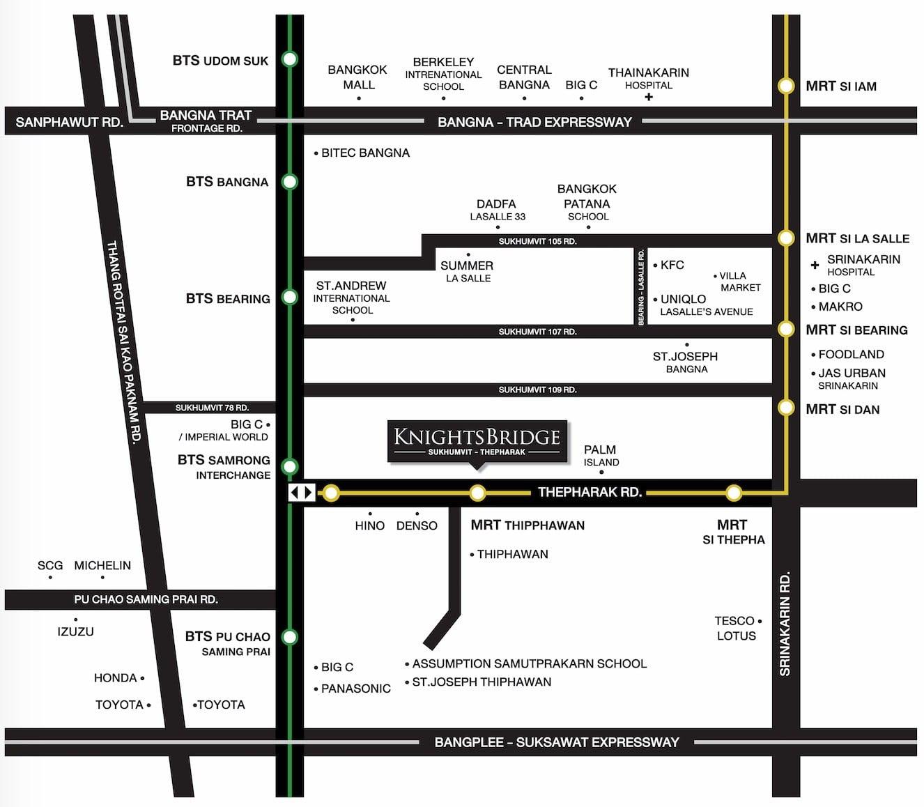 Knightsbridge-sukhumvit-thepharak-map