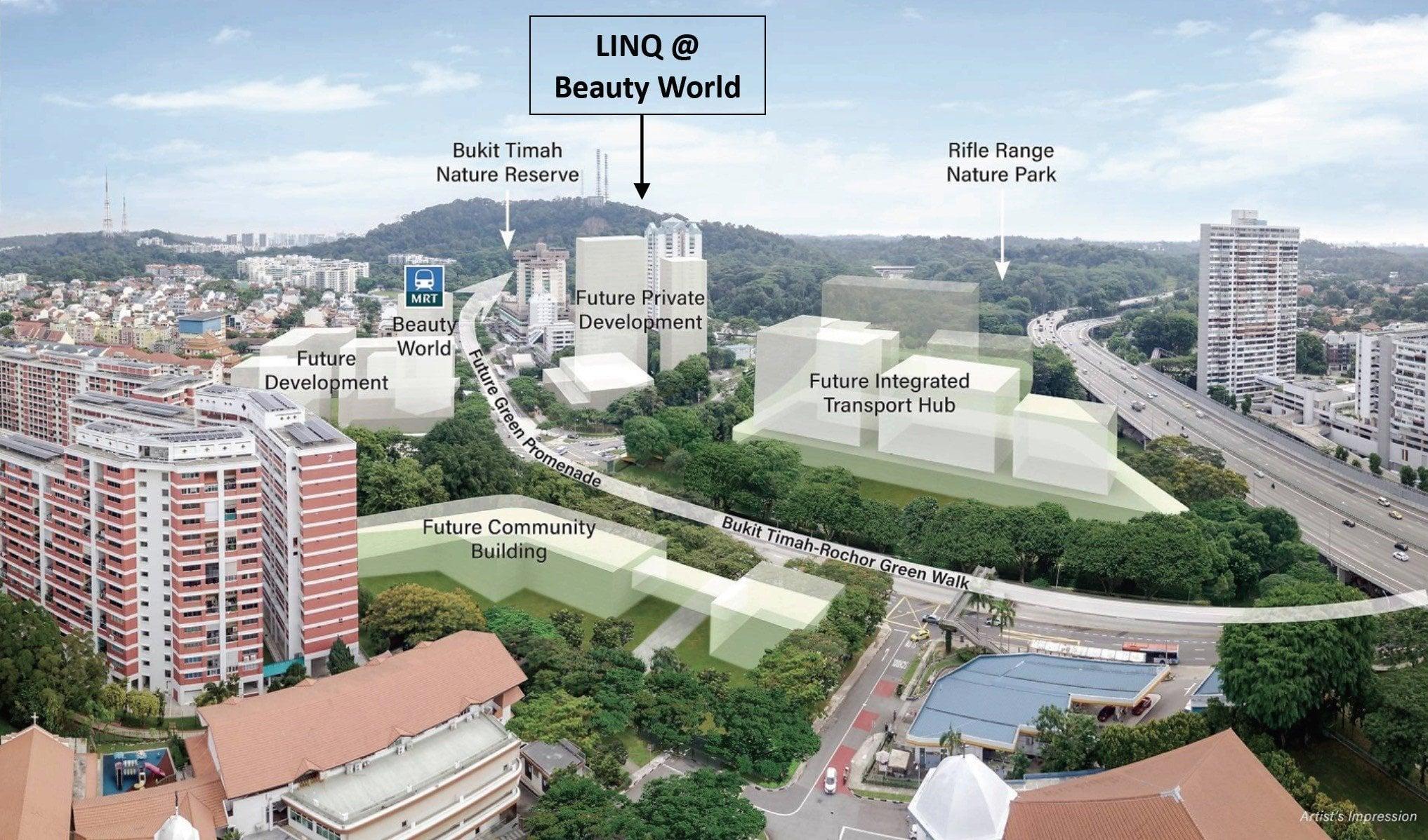 Linq Beauty World - future map
