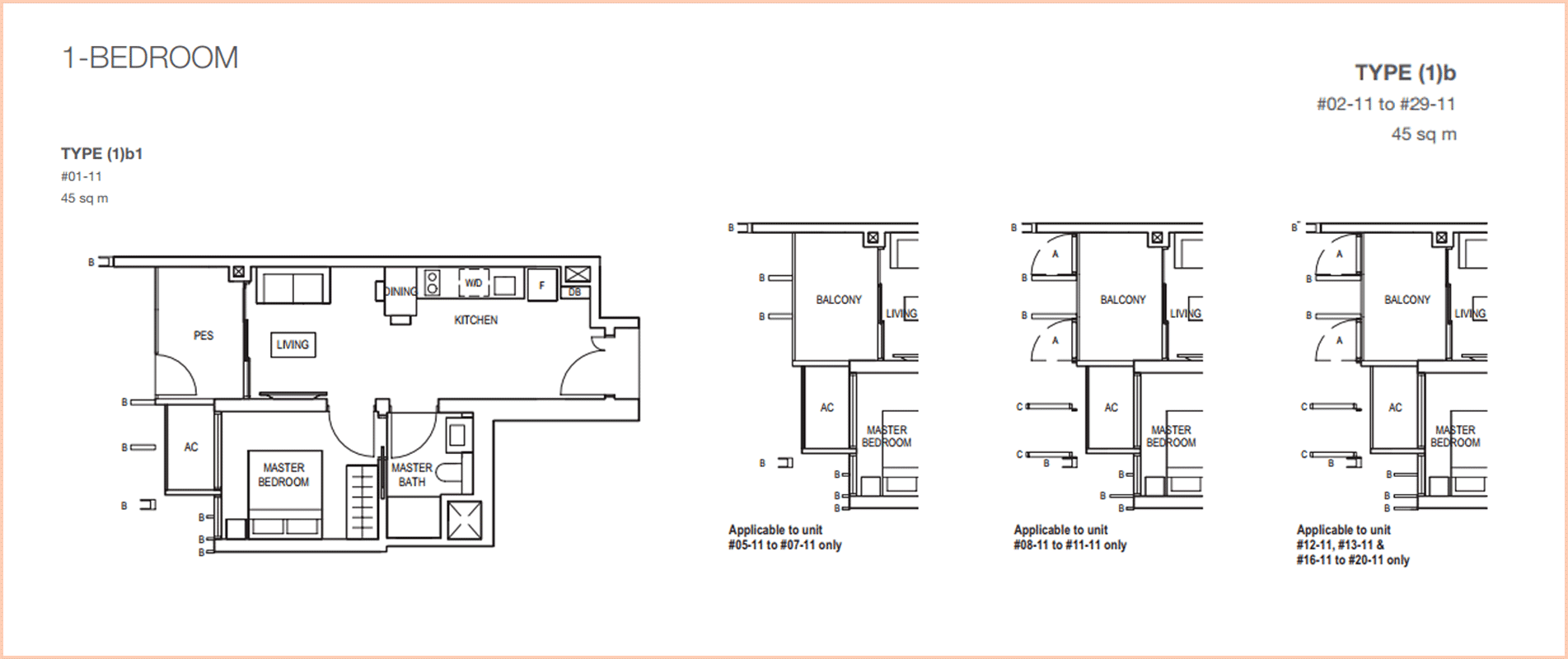 Midwood-hillview-floor plan 1BR 484sf B1