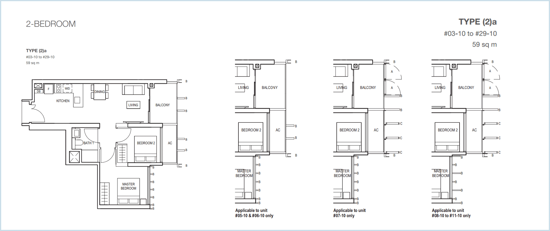 Midwood-hillview-floor plan 2BR 2a