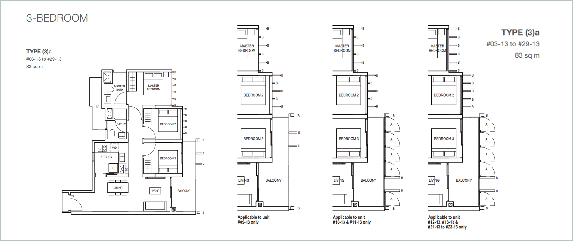 Midwood-hillview-floor plan 3BR A