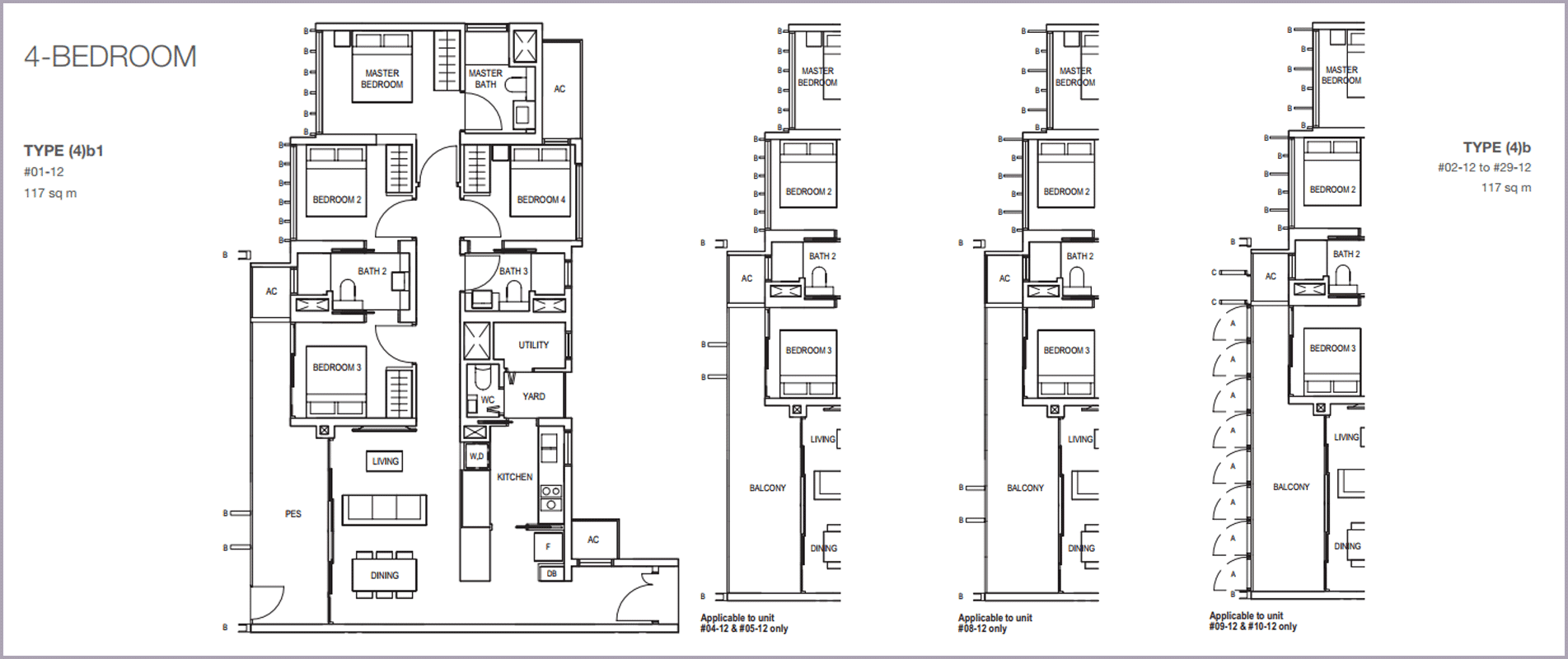 Midwood-hillview-floor plan 4BR B