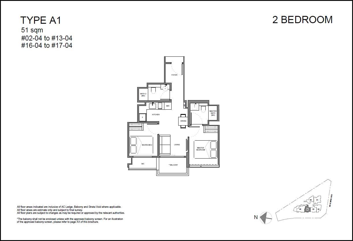 Neu Novena Floor Plan 2BR 2Bath