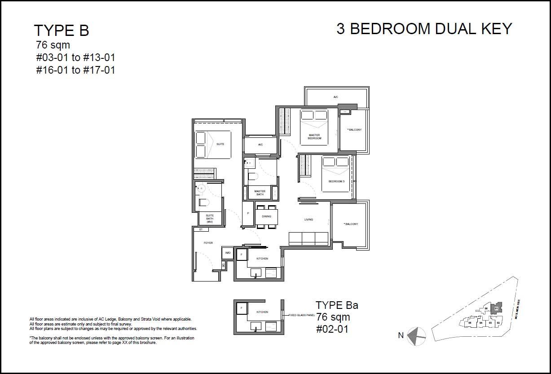 Neu Novena Floor Plan 3BR DK