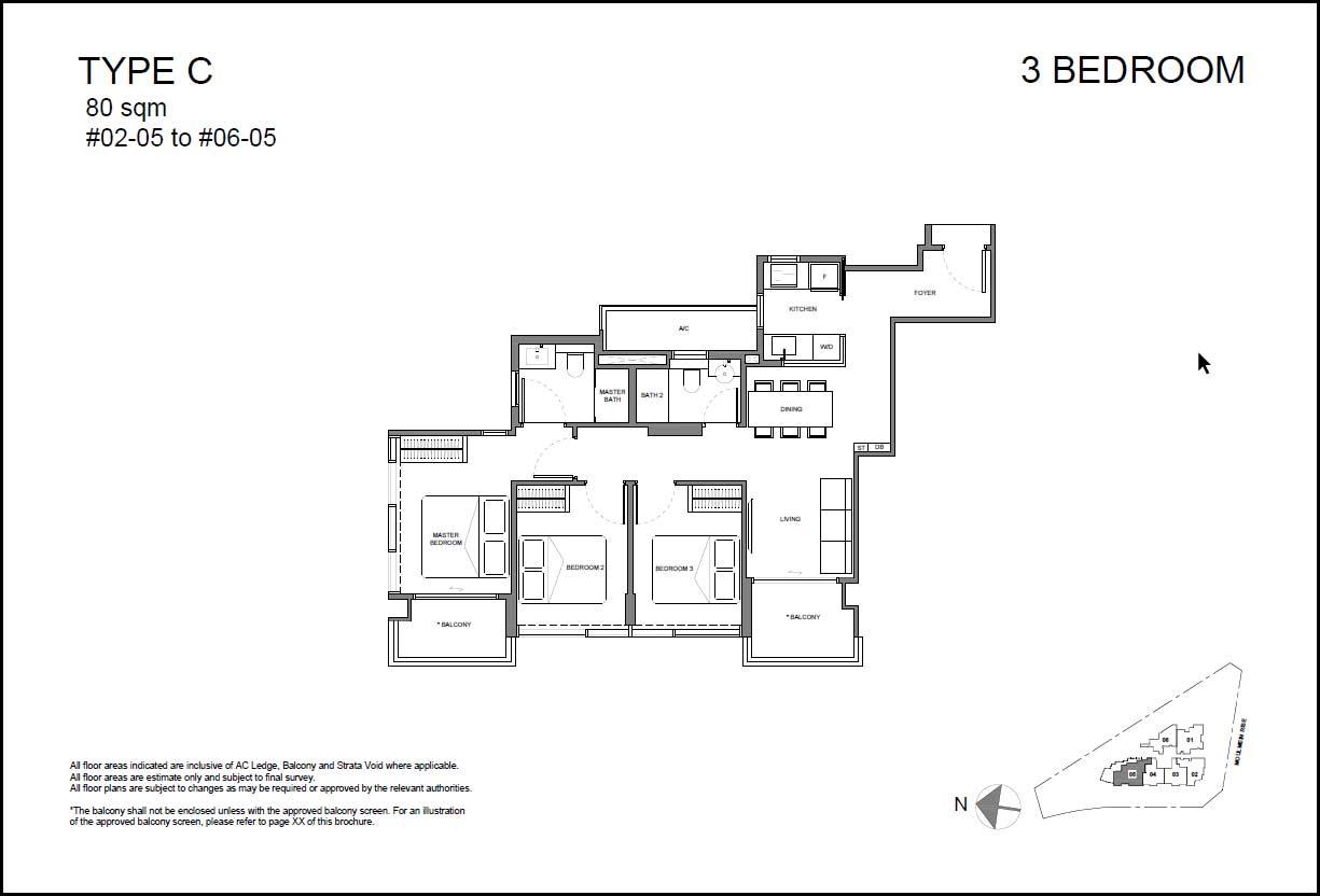 Neu Novena Floor Plan 3BR Type C