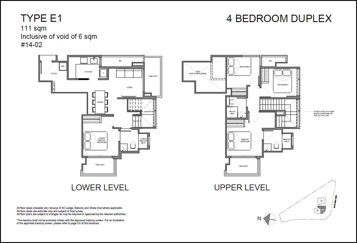 Neu Novena Floor Plan 4BR Duplex