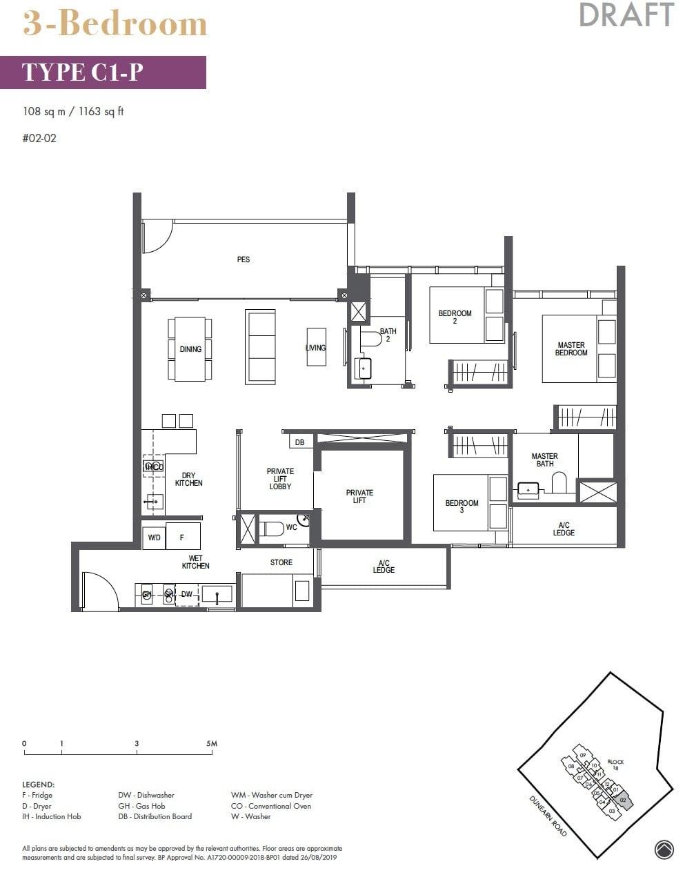 Pullman-Residences-Newton-3BR 1163sf