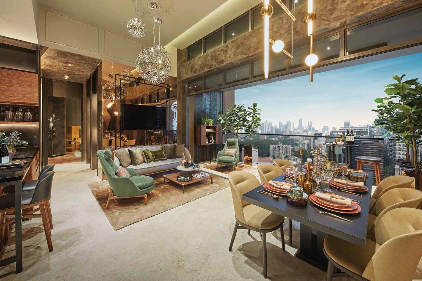 Pullman-Residences-Newton-Living room