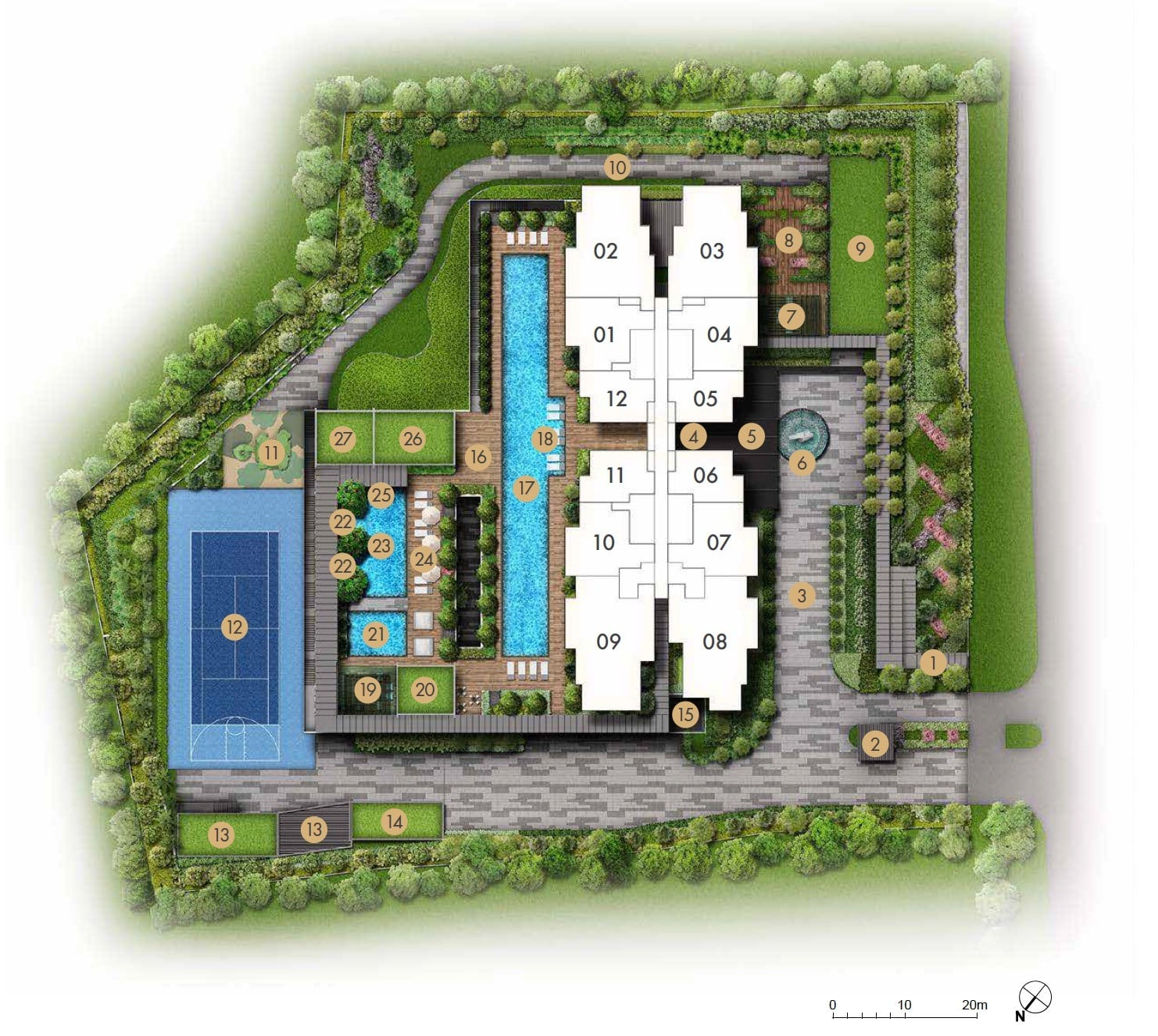 Pullman-Residences-Newton-Site-Plan