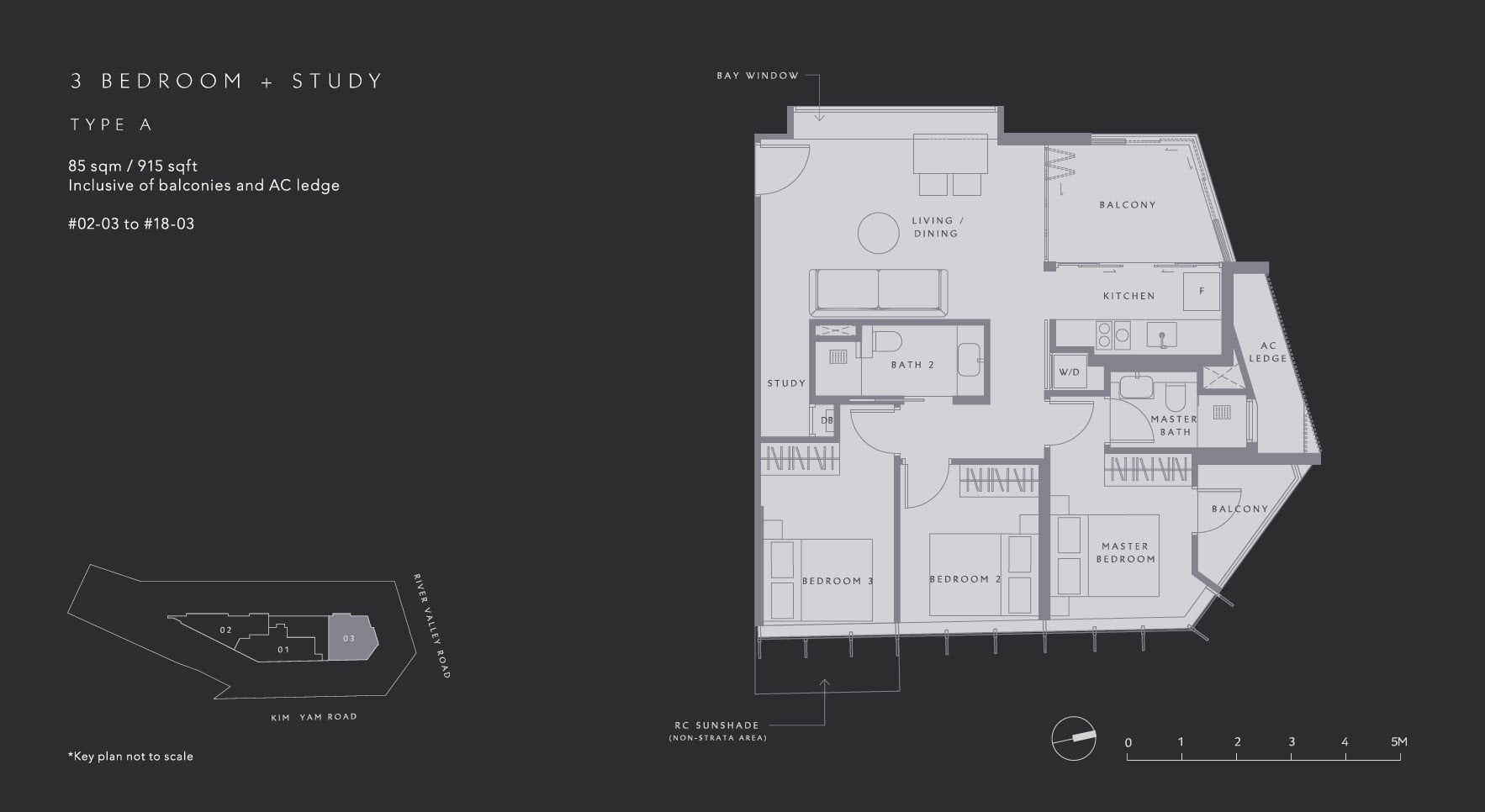 The-Iveria-Floor Plan Type A 3BR +S