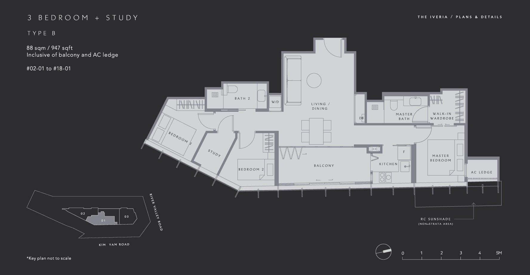The-Iveria-Floor Plan Type B 3BR +S
