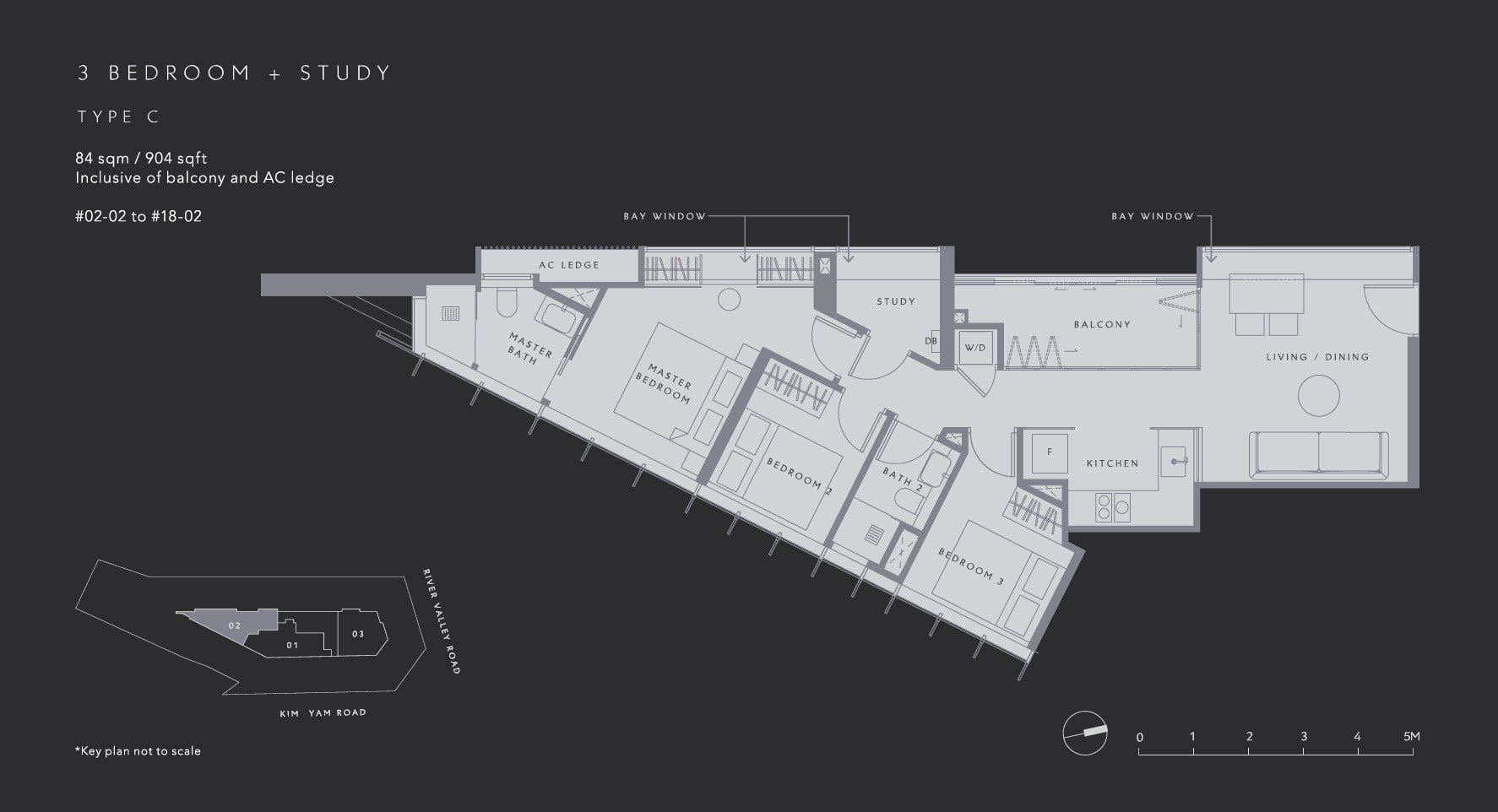 The-Iveria-Floor Plan Type C 3BR +S