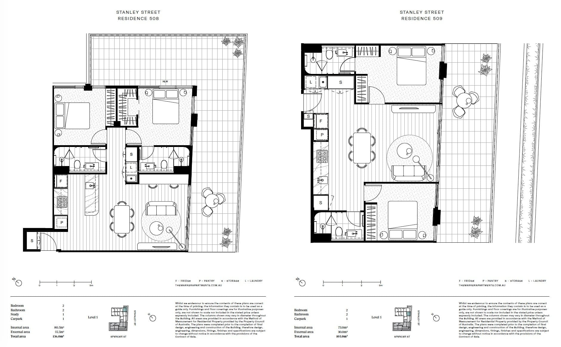 The Marker Melbourne-Typical 2BR Floor Plate 2