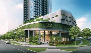 linq condo commercial entrance