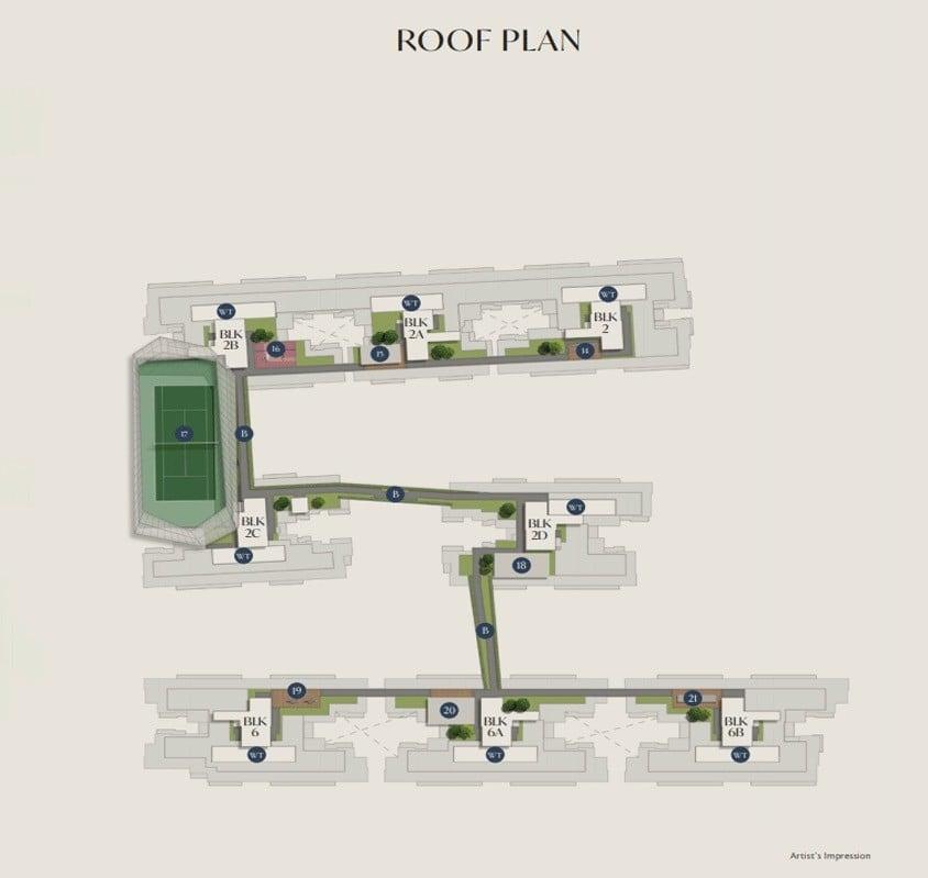 royal-ville-Site Plan Roof Plan