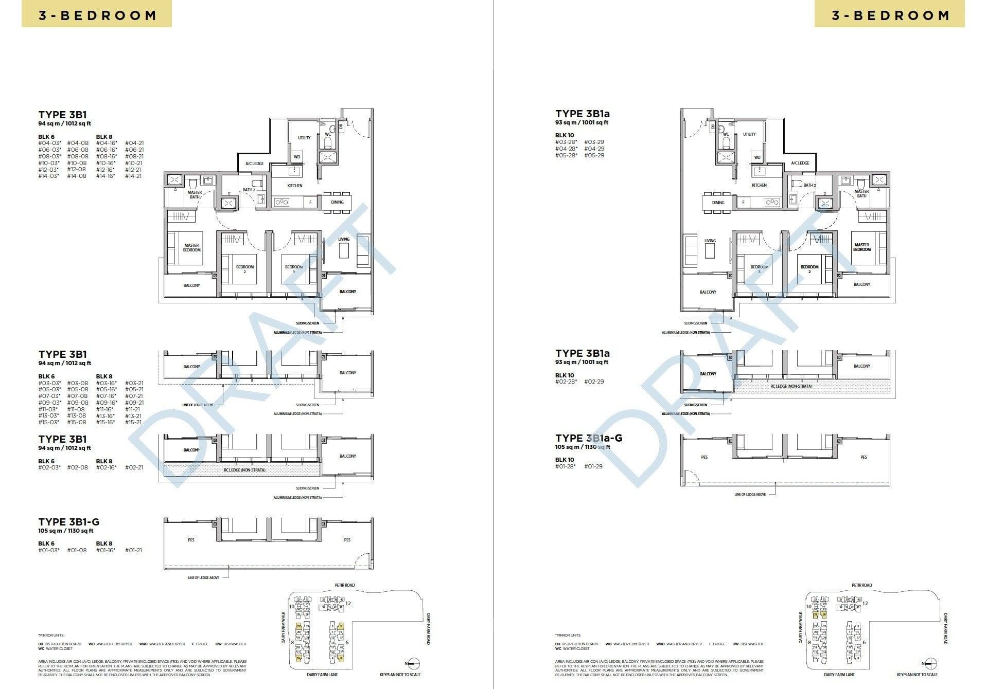Dairy-Farm-Residences-Floor Plan 3BR -2