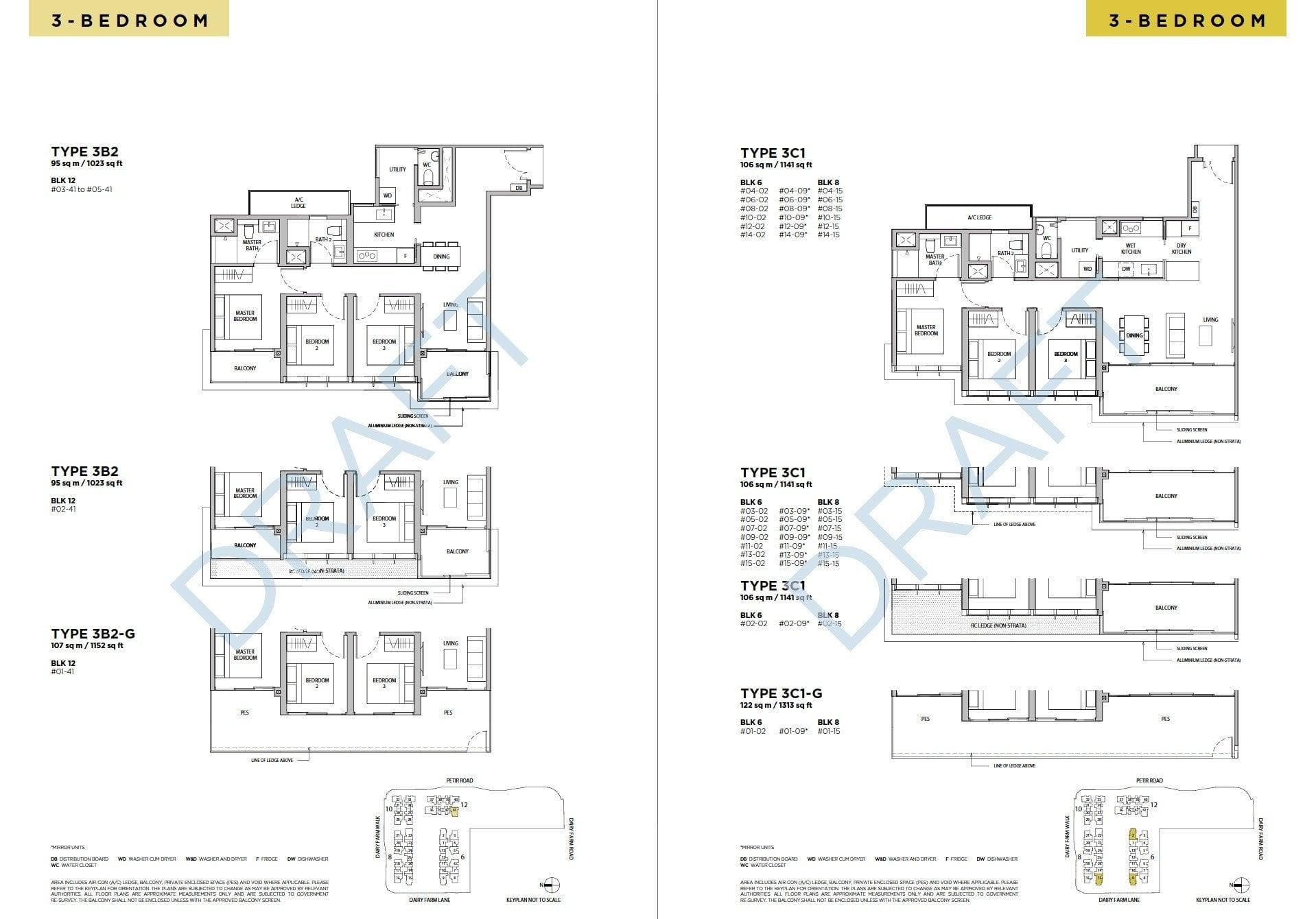 Dairy-Farm-Residences-Floor Plan 3BR -3