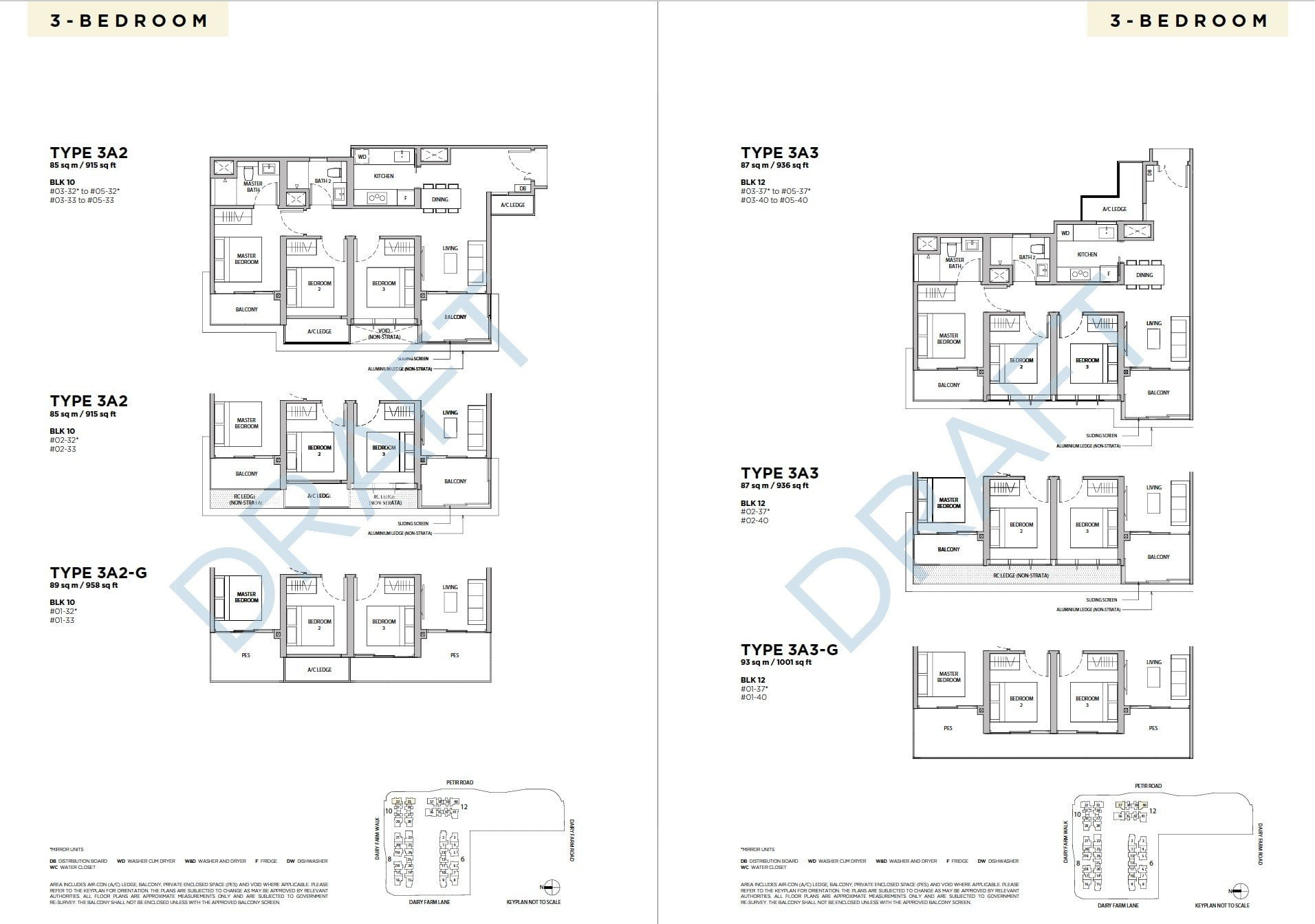 Dairy-Farm-Residences-Floor Plan 3BR
