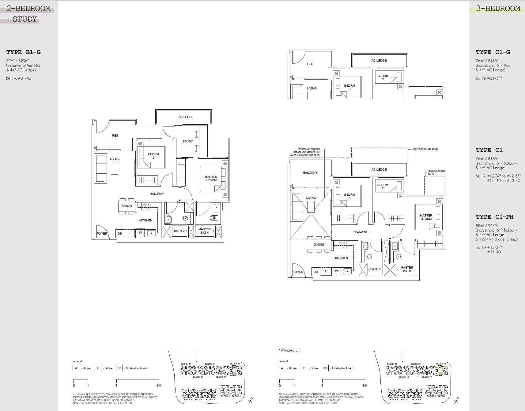 Parc Canberra floor plan floor plan 3BR-1