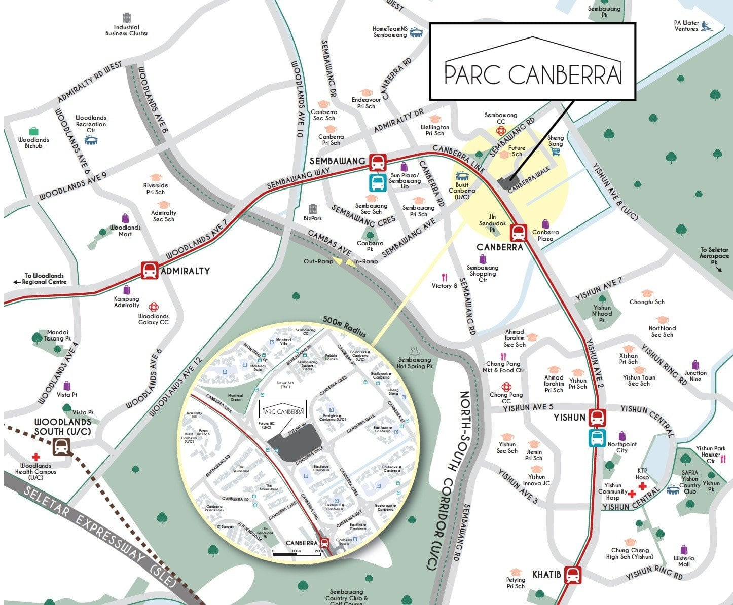 Parc Canberra location map
