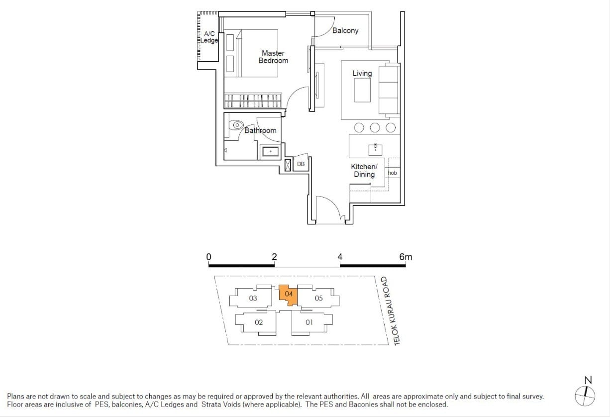 residences22-floor plan-1BR type A