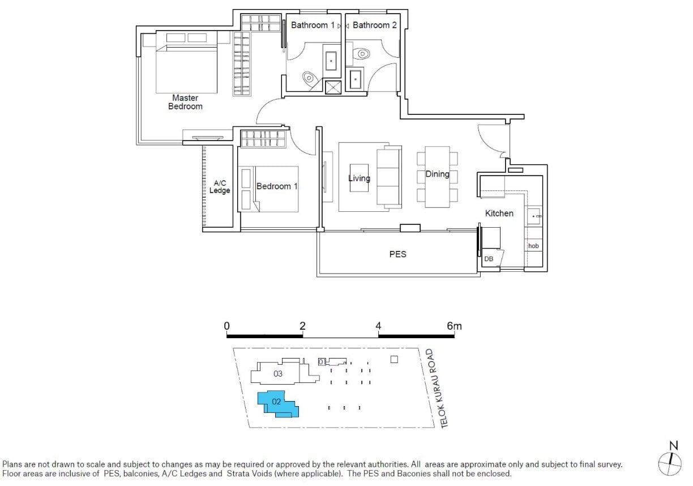 residences22-floor plan-2BR type B