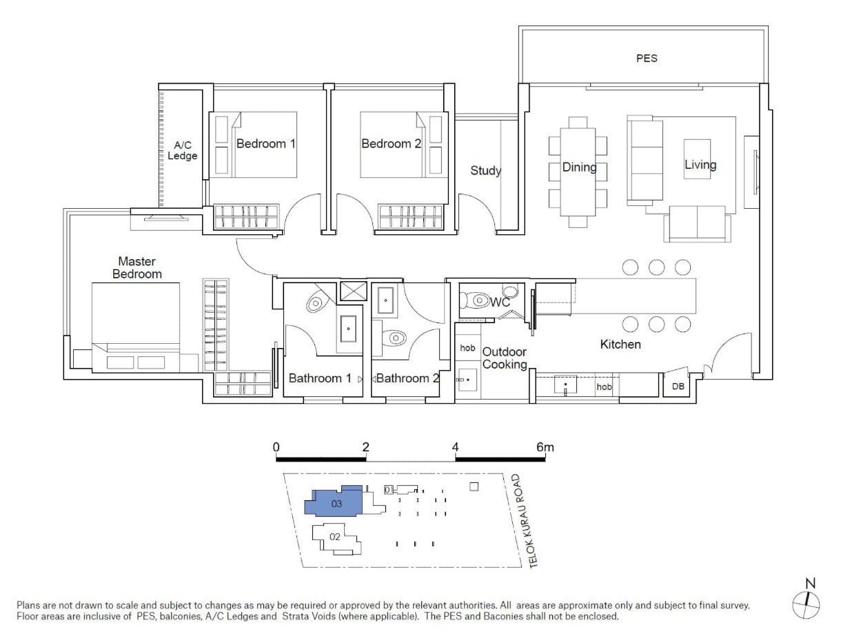 residences22-floor plan-3BR type C