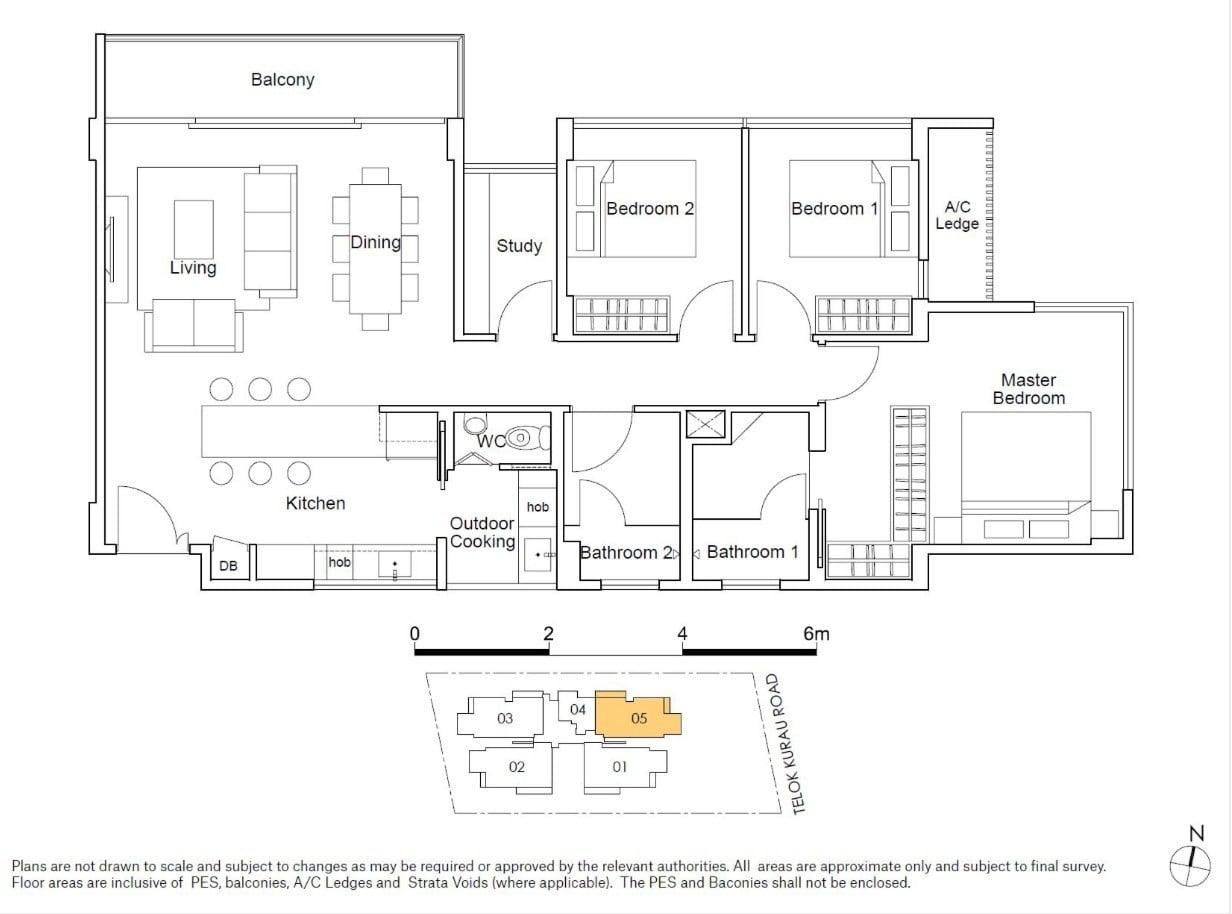 residences22-floor plan-3BR type C2