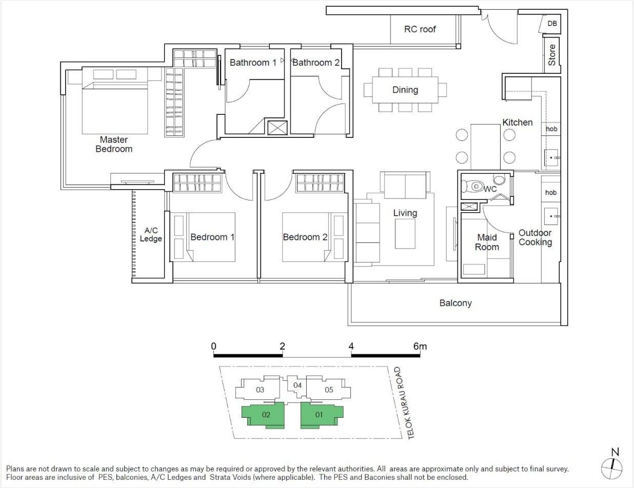 residences22-floor plan-3BR type C3