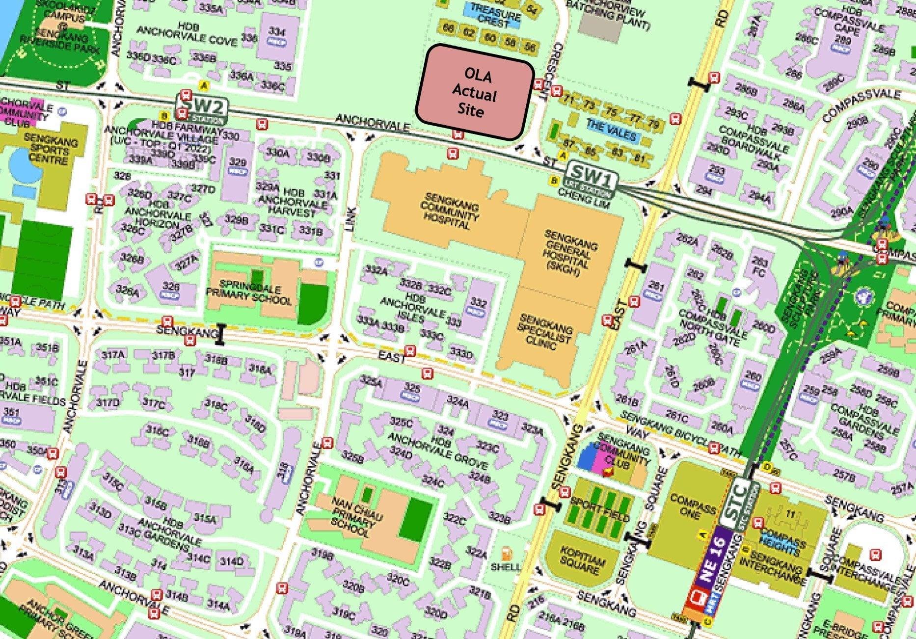 OLA Street Directory Map