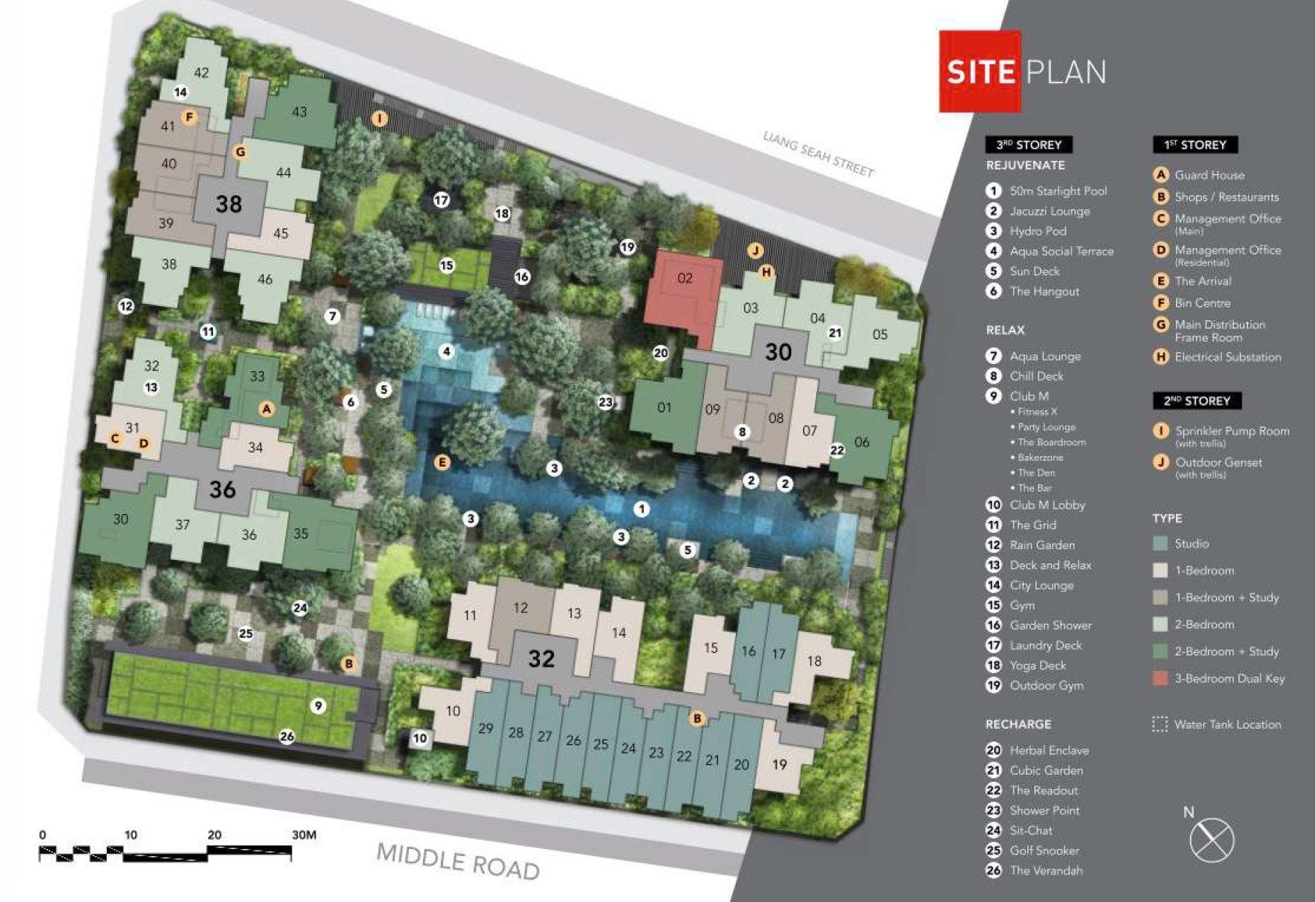 The M Bugis site plan