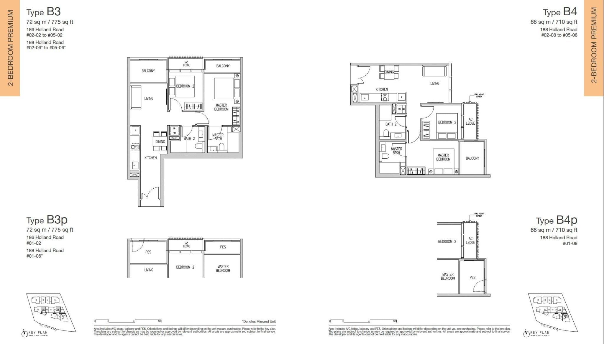 Van Holland floor plan 2BR premium