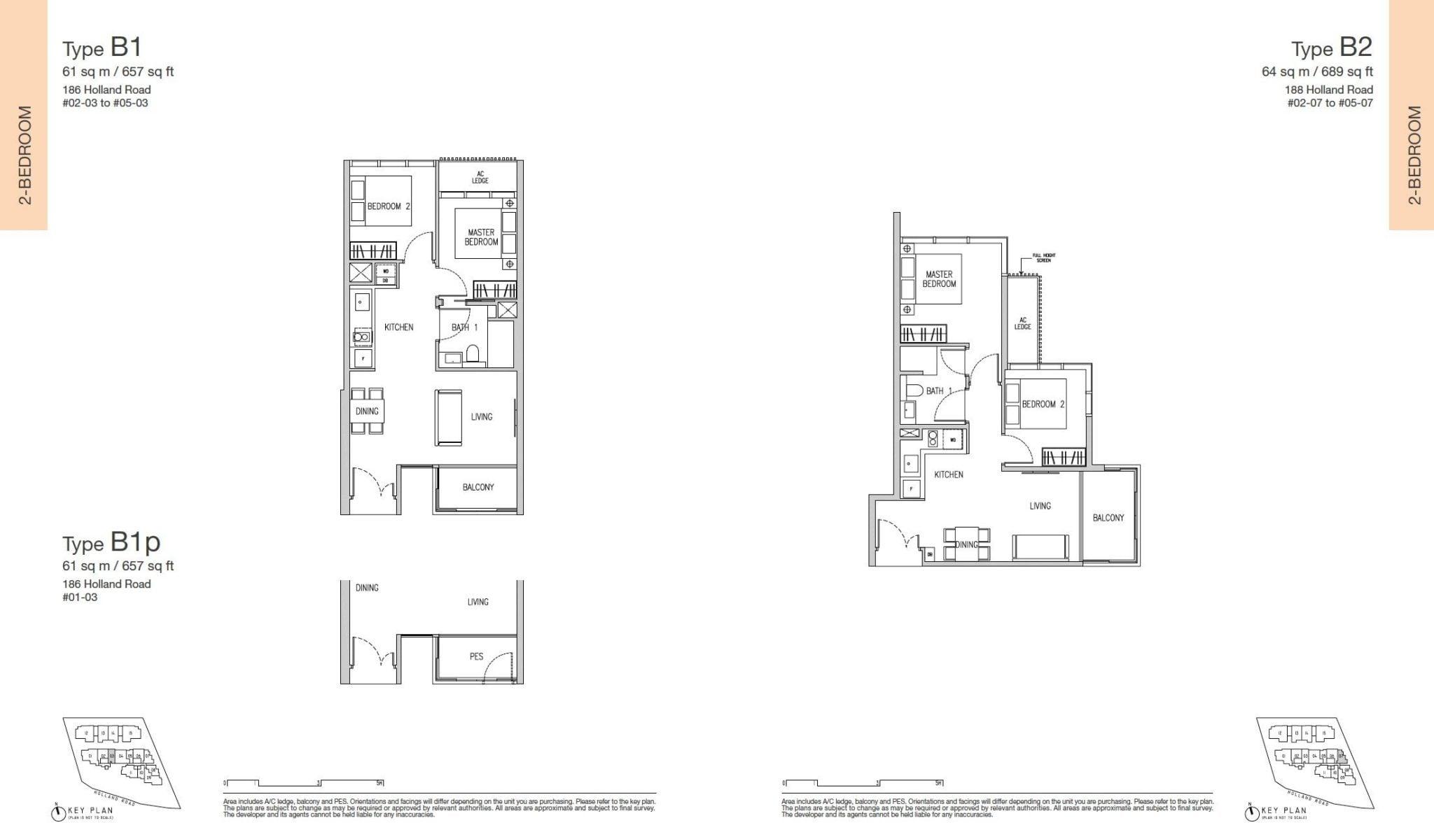 Van Holland floor plan 2BR
