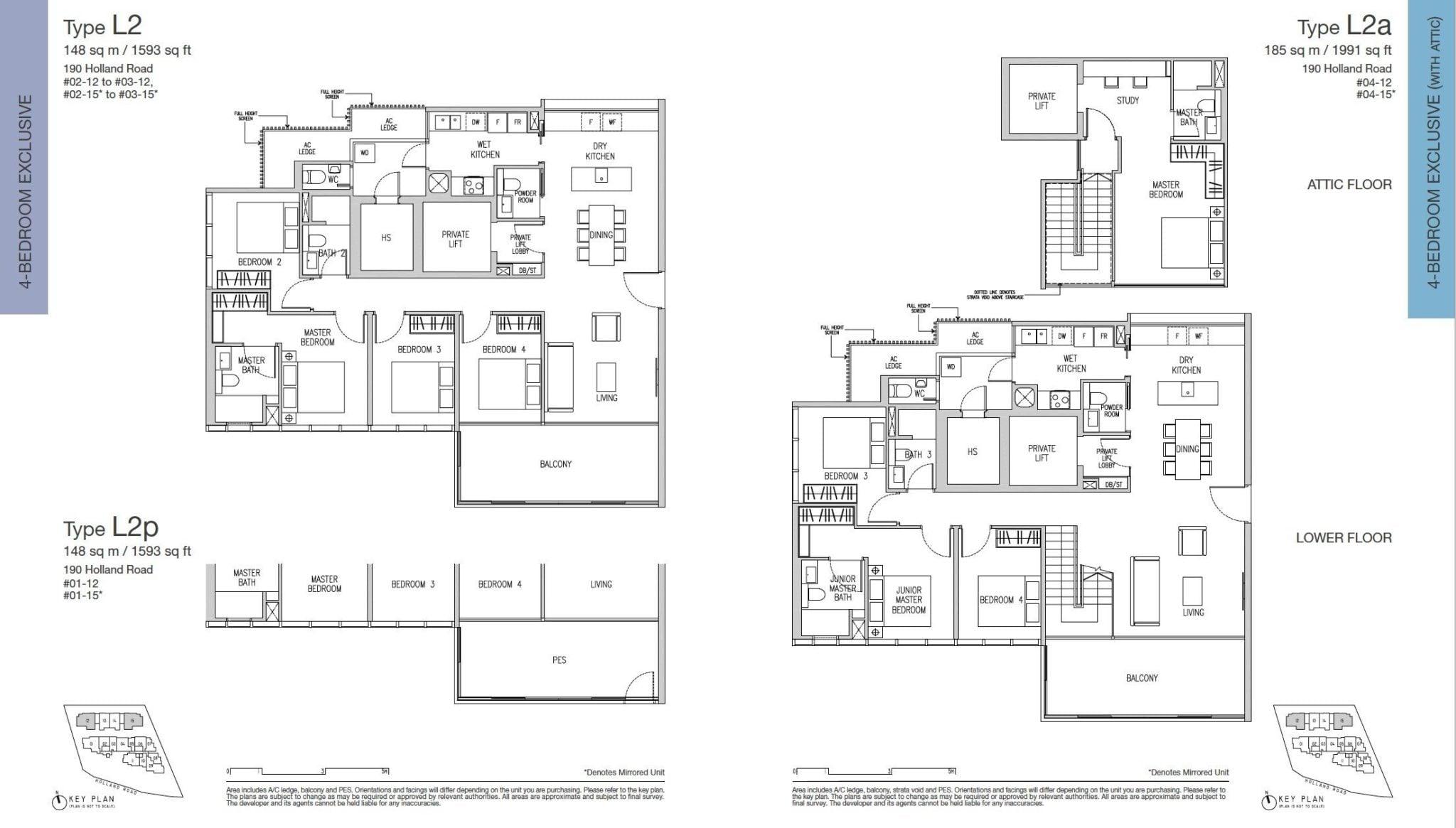 Van Holland floor plan 4BR