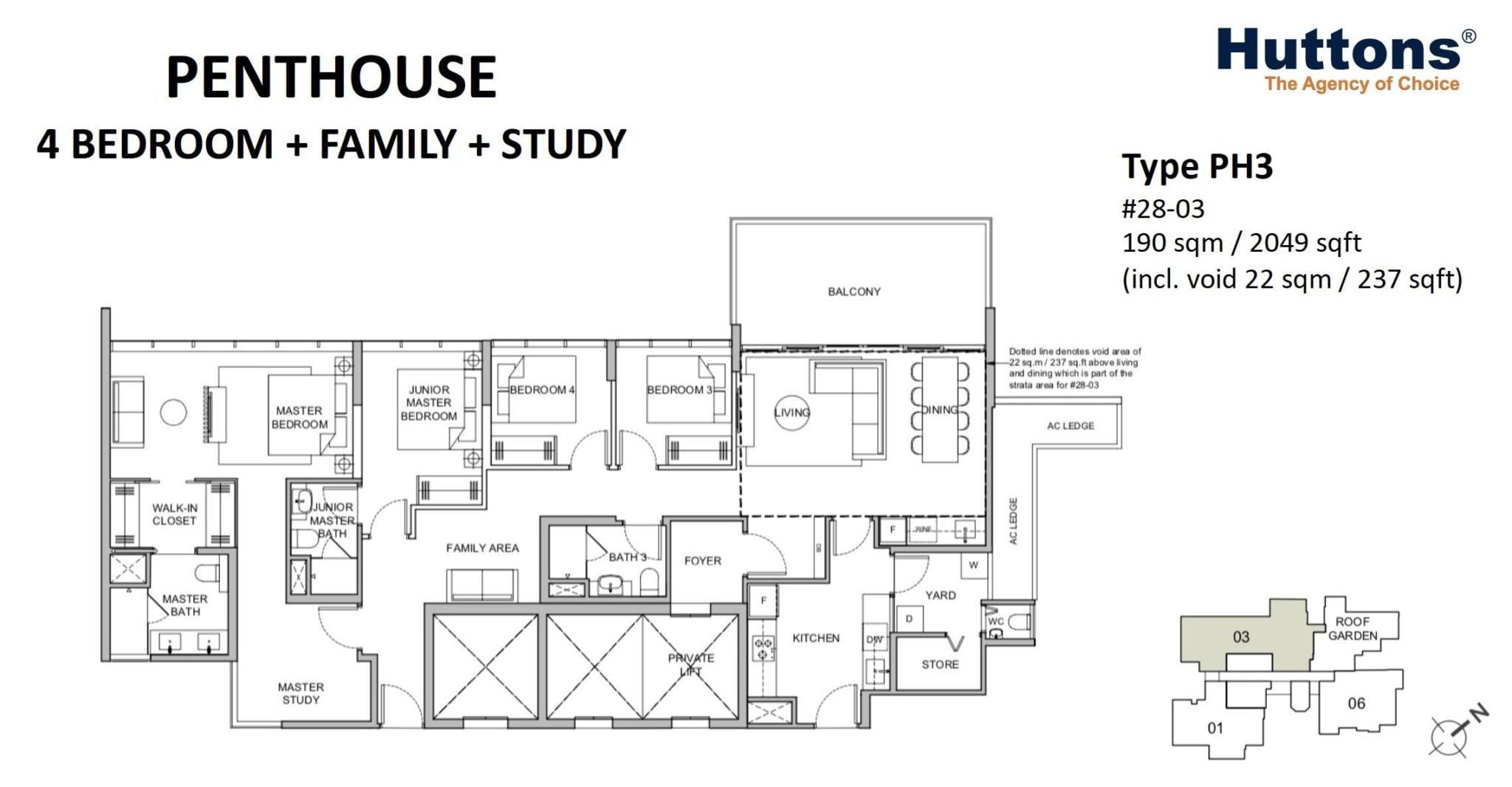 Verticus-floor plan 4BR Penthouse