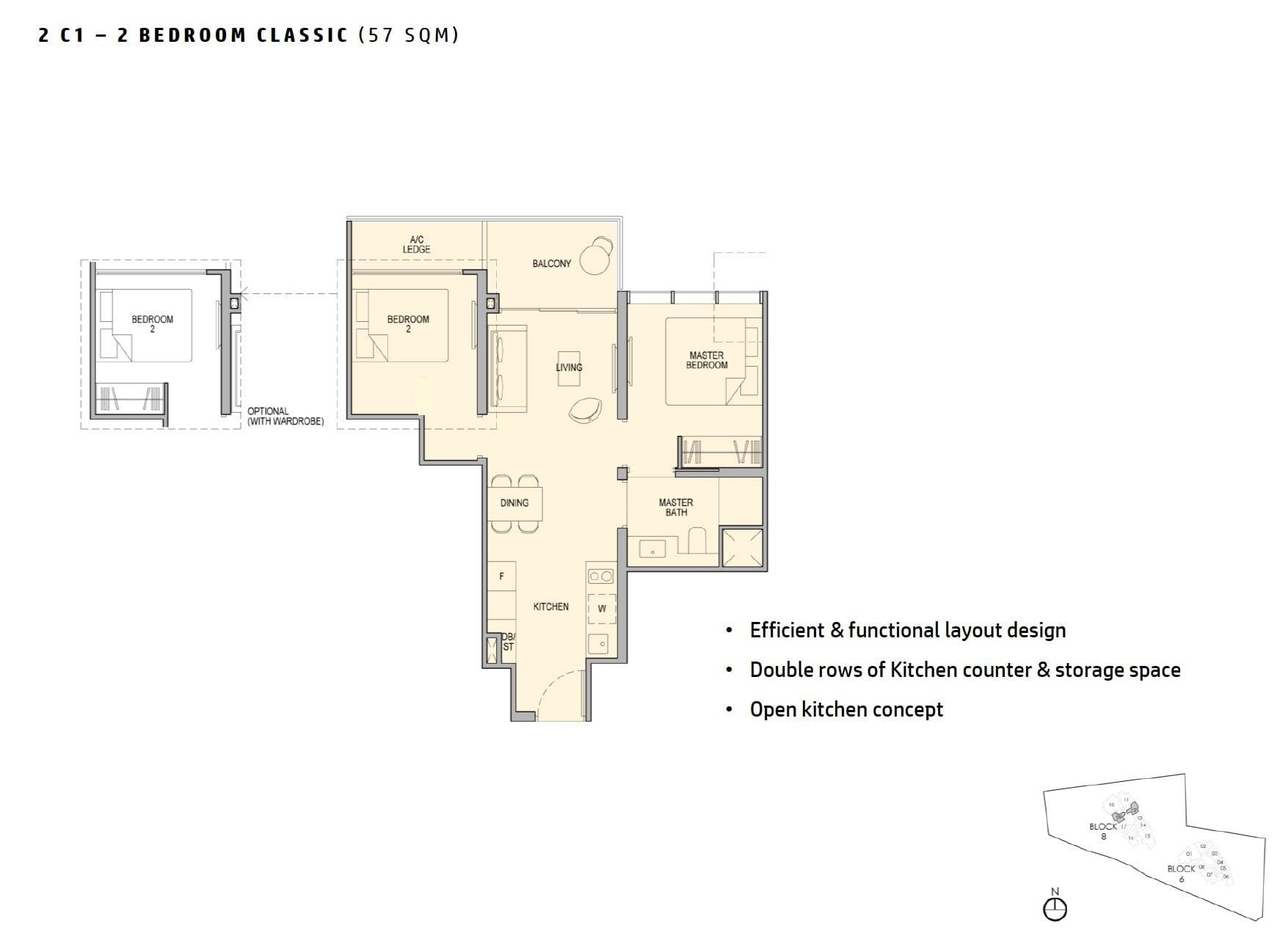 kopar-newton-floor plan 2BR 57sqm