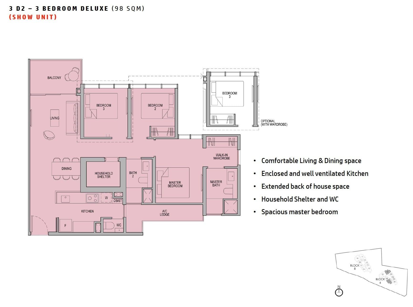 kopar-newton-floor plan 3BR Deluxe