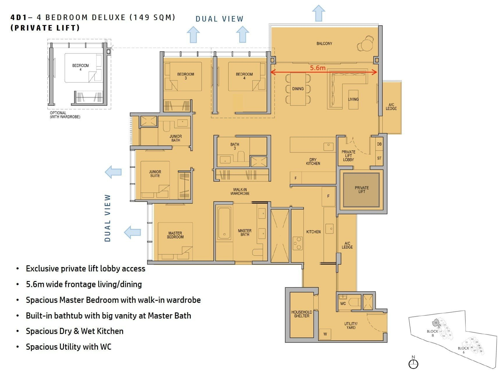 kopar-newton-floor plan 4BR Deluxe