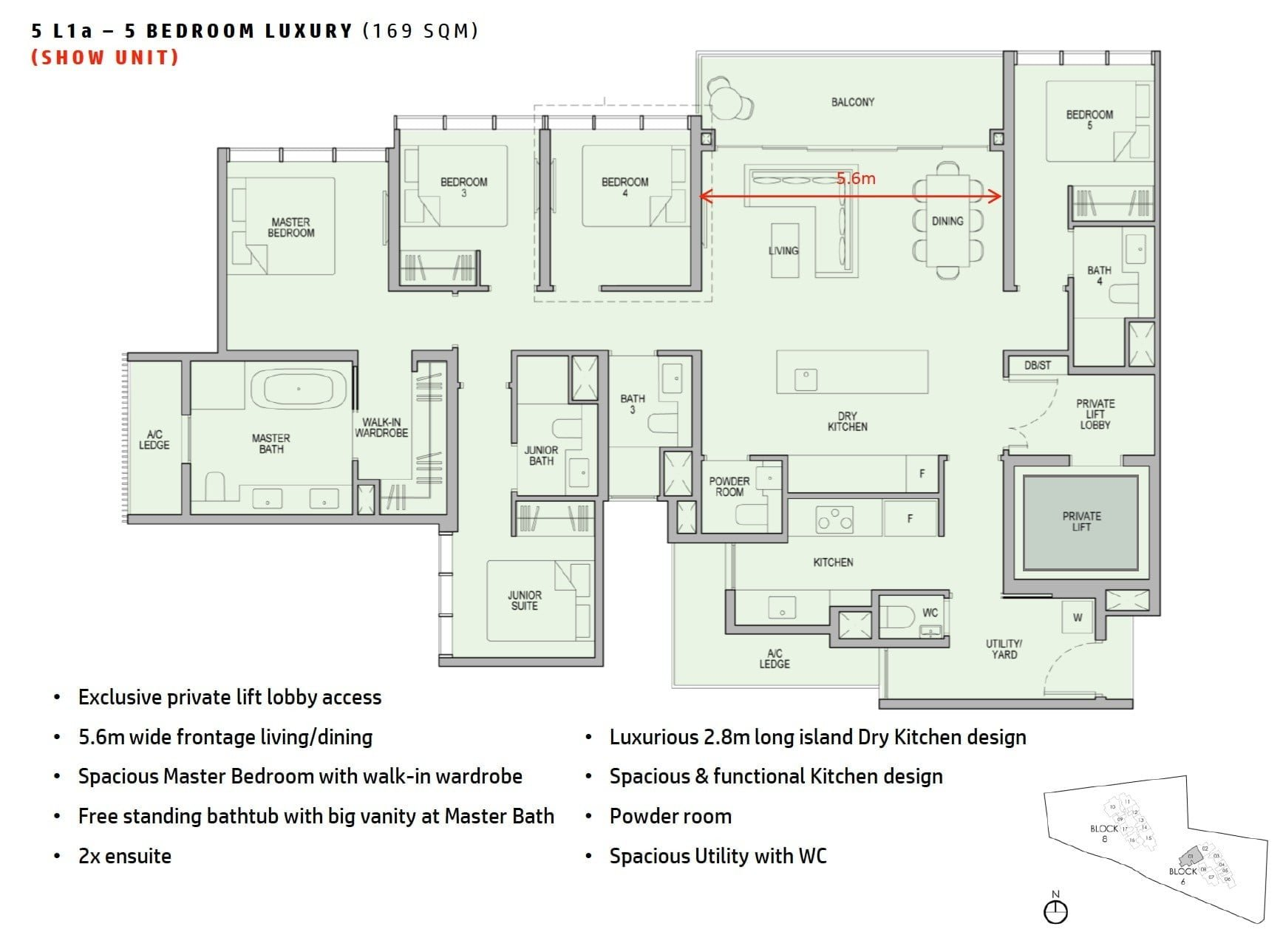 kopar-newton-floor plan 5BR Luxury