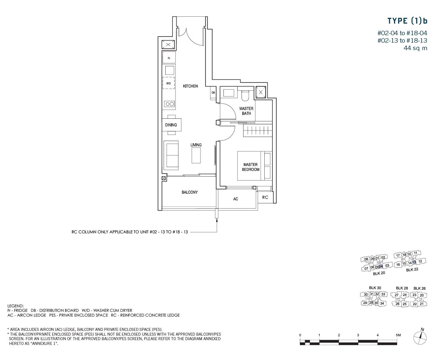 penrose-sims-floorplan 1BR 1B