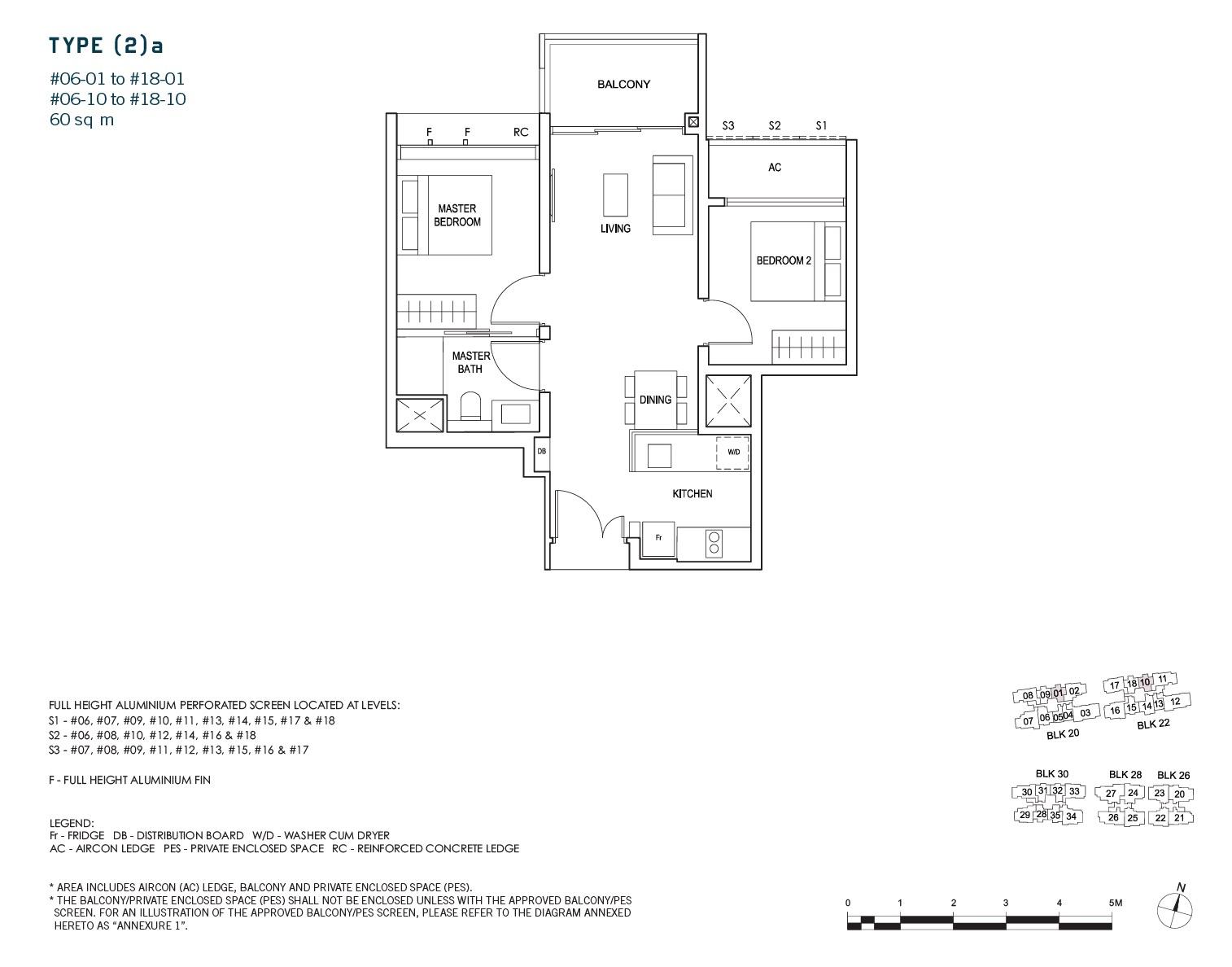 penrose-sims-floorplan 2BR 1Bath