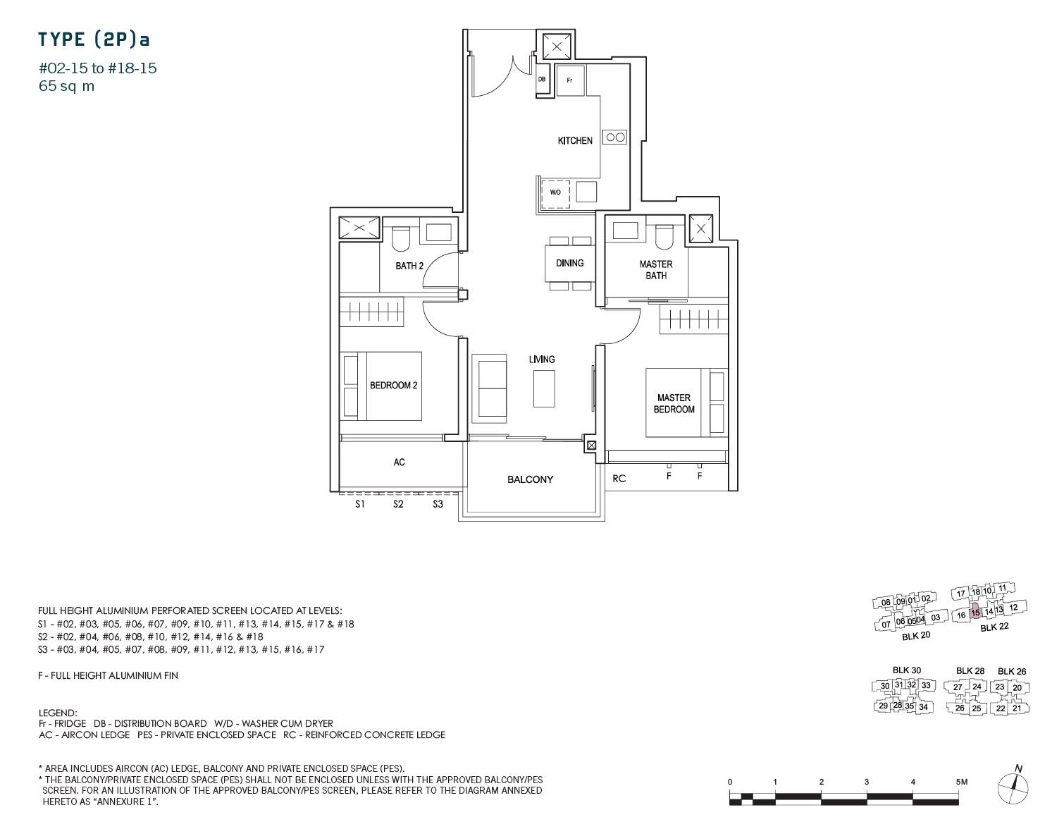 penrose-sims-floorplan 2BR 2Bath