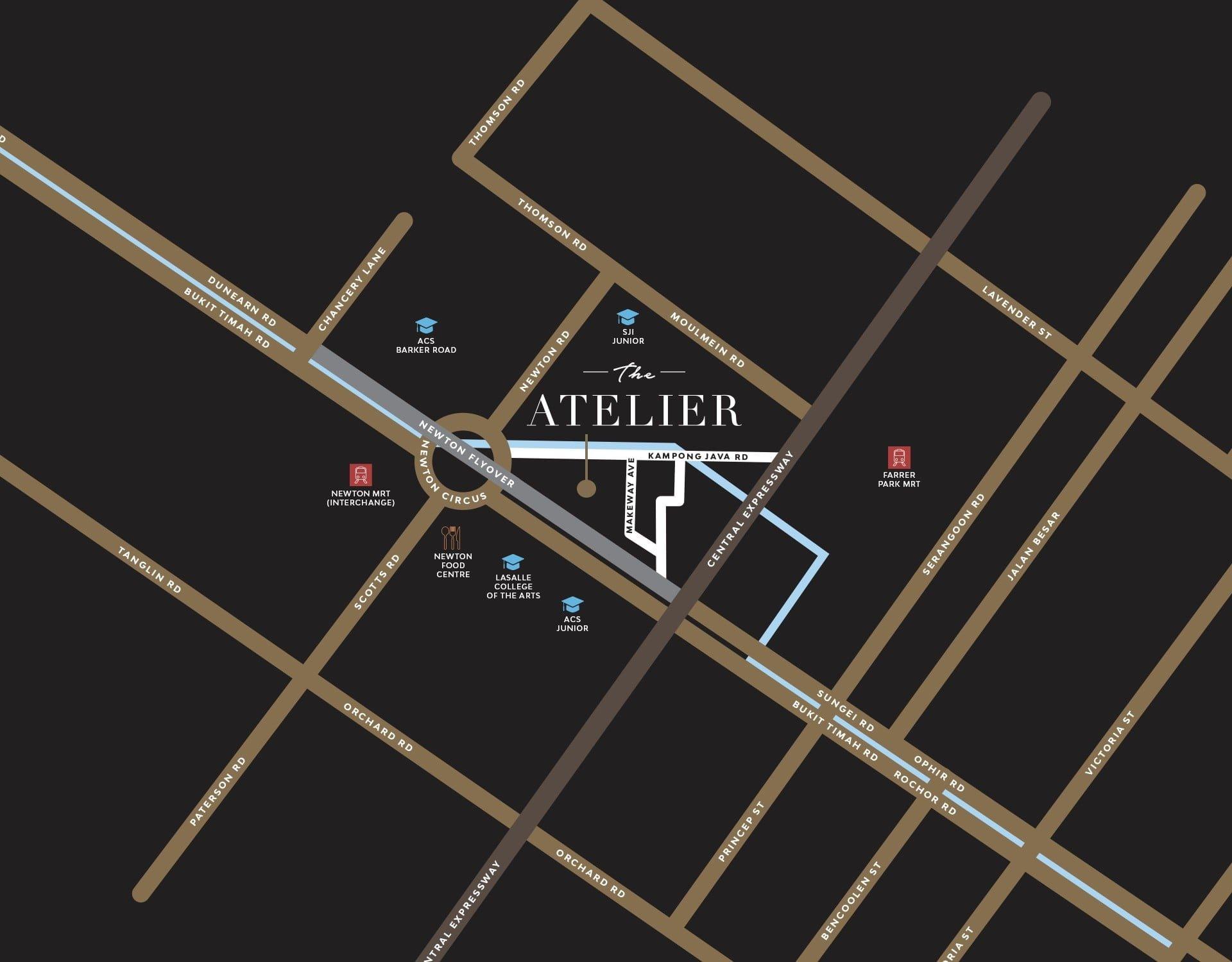 the-atelier-condo map