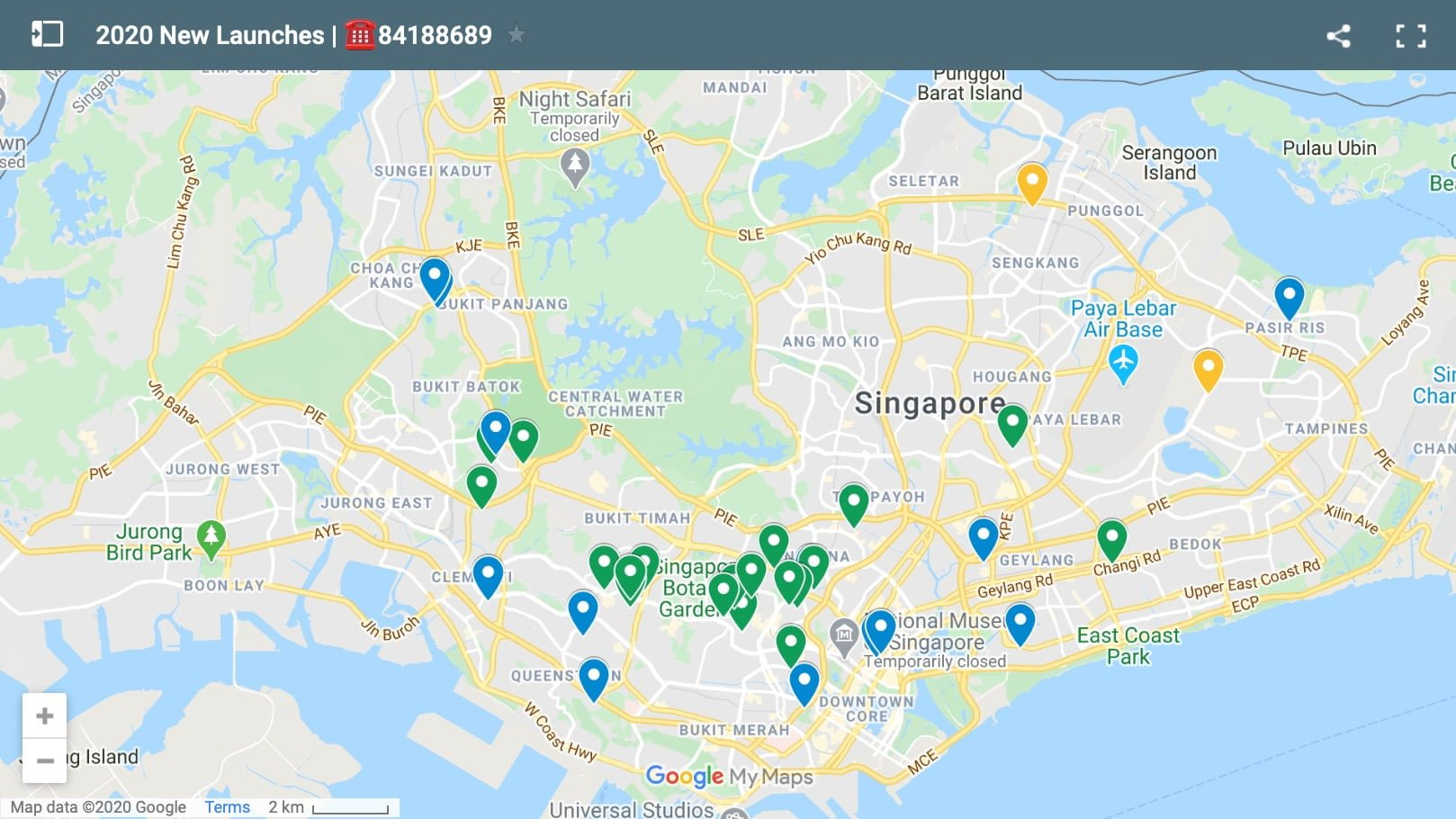 2020 Singapore new condo launches