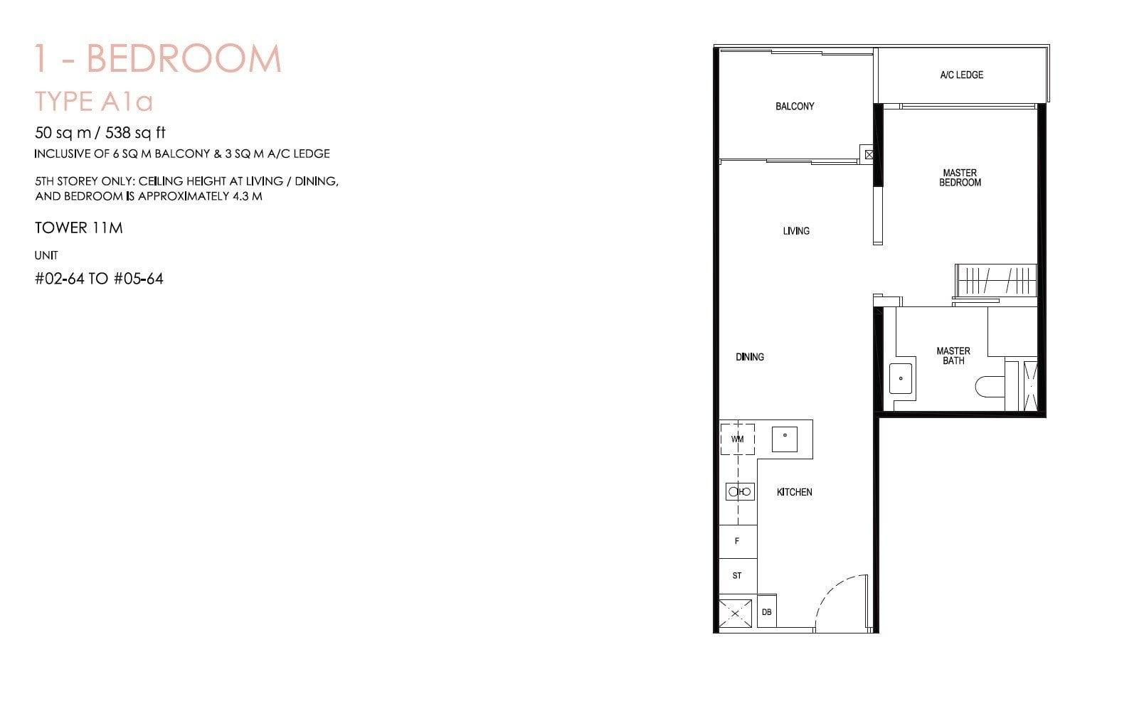 daintree-condo-floor plan 1BR