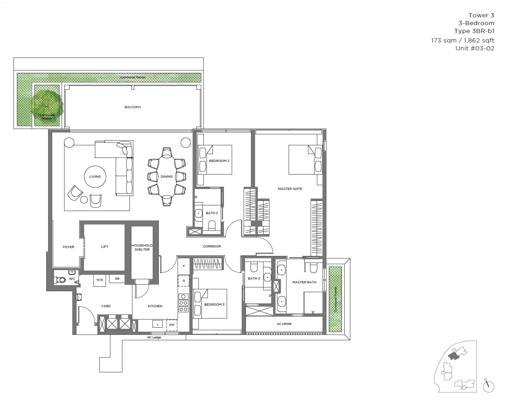 15-Holland Hill -floor plan 3BR c