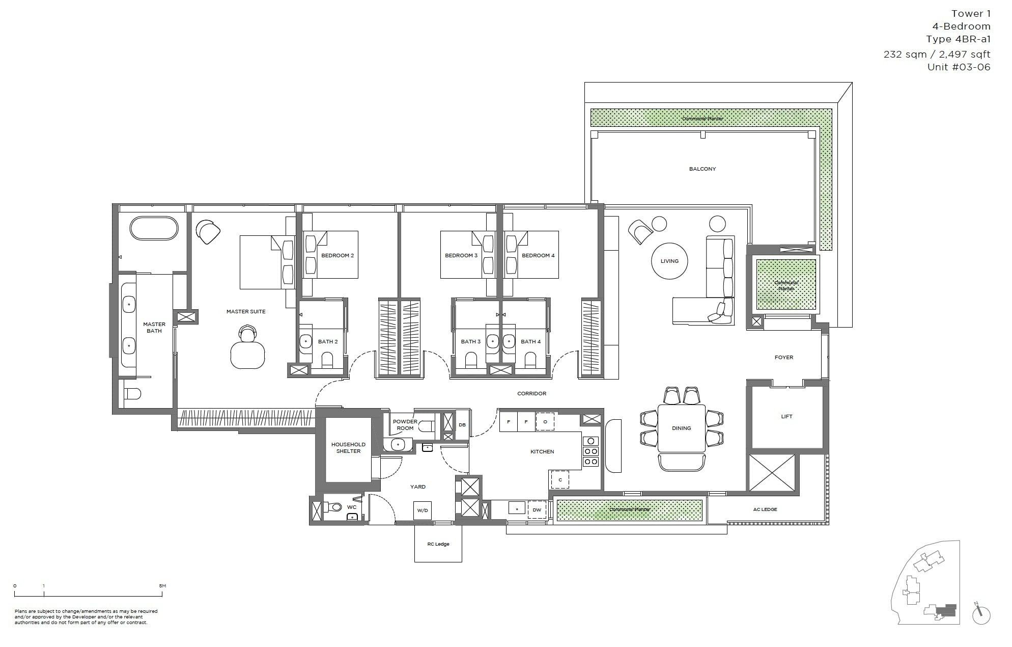 15-Holland Hill -floor plan 4BR b