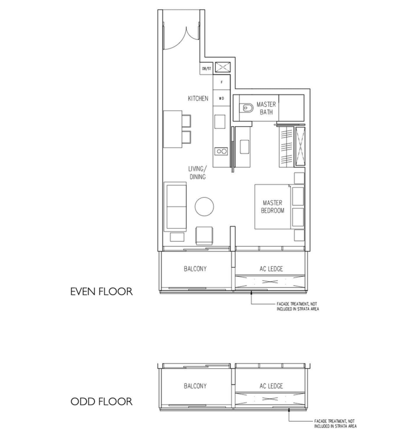 19 Nassim Condo floor plan 1BR type A2