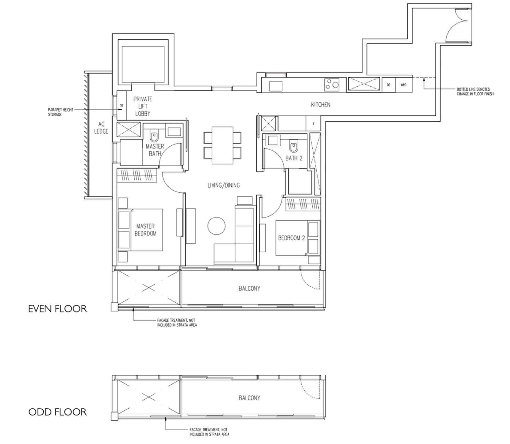 19 Nassim Condo floor plan 2BR2Bath type B4